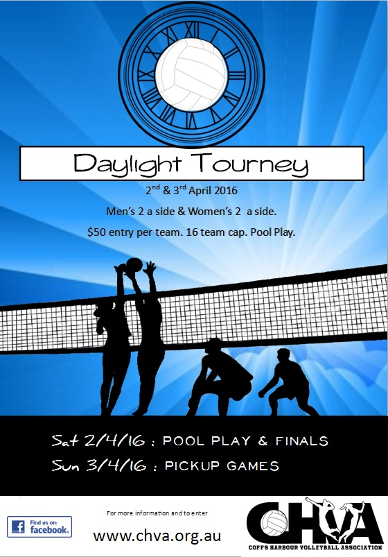 Daylight Savings Tourney Poster